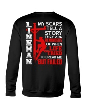 Lineman My Scars Tell A Story They Are Meminders Crewneck Sweatshirt thumbnail