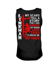 Lineman My Scars Tell A Story They Are Meminders Unisex Tank thumbnail