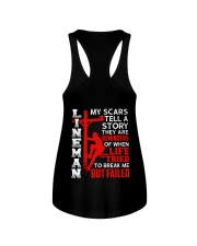 Lineman My Scars Tell A Story They Are Meminders Ladies Flowy Tank thumbnail
