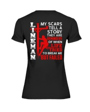 Lineman My Scars Tell A Story They Are Meminders Premium Fit Ladies Tee thumbnail