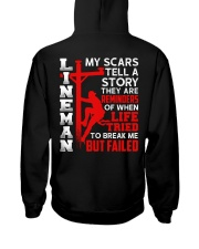 Lineman My Scars Tell A Story They Are Meminders Hooded Sweatshirt thumbnail