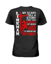 Lineman My Scars Tell A Story They Are Meminders Ladies T-Shirt thumbnail