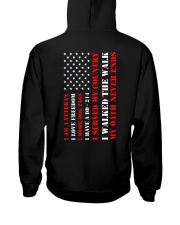 Veteran Flag My Oath Never Ends Hooded Sweatshirt back