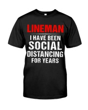 Lineman I Have Been Social Distancing For Years Premium Fit Mens Tee thumbnail