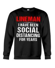 Lineman I Have Been Social Distancing For Years Crewneck Sweatshirt thumbnail