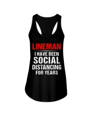 Lineman I Have Been Social Distancing For Years Ladies Flowy Tank thumbnail