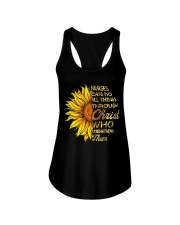 Nurses can do all things through Christ who streng Ladies Flowy Tank thumbnail