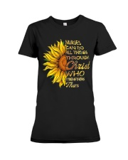 Nurses can do all things through Christ who streng Premium Fit Ladies Tee thumbnail