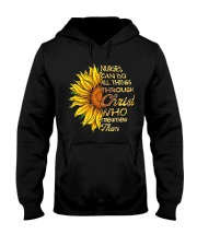 Nurses can do all things through Christ who streng Hooded Sweatshirt thumbnail