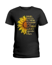 Nurses can do all things through Christ who streng Ladies T-Shirt thumbnail