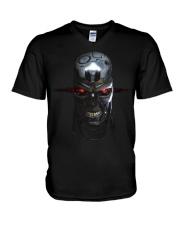 LOVE SKULL COOL V-Neck T-Shirt thumbnail