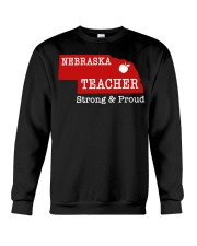 Nebraska teacher Strong Proud Crewneck Sweatshirt thumbnail