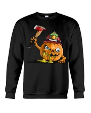 Firefighter Scary Face Pumpkin Crewneck Sweatshirt thumbnail