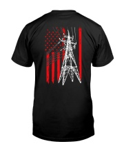 Power Line Flag  Shirt Classic T-Shirt back