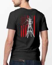 Power Line Flag  Shirt Classic T-Shirt lifestyle-mens-crewneck-back-5