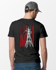 Power Line Flag  Shirt Classic T-Shirt lifestyle-mens-crewneck-back-6