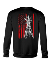 Power Line Flag  Shirt Crewneck Sweatshirt thumbnail