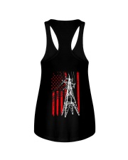 Power Line Flag  Shirt Ladies Flowy Tank thumbnail