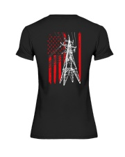 Power Line Flag  Shirt Premium Fit Ladies Tee thumbnail
