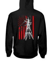 Power Line Flag  Shirt Hooded Sweatshirt thumbnail