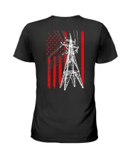 Power Line Flag  Shirt Ladies T-Shirt thumbnail
