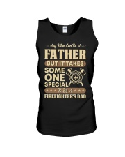 Any Man Can Be A Father Firefighter Dad Unisex Tank thumbnail