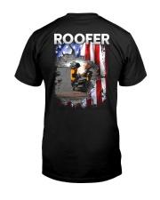Roofer Flag Classic T-Shirt back