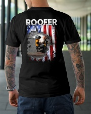 Roofer Flag Classic T-Shirt lifestyle-mens-crewneck-back-3