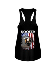 Roofer Flag Ladies Flowy Tank thumbnail