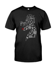 Firefighter Reindeer Merry Christmas Premium Fit Mens Tee thumbnail