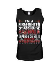I'm A Firefighter - Level Of Stupidity Unisex Tank thumbnail