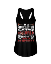 I'm A Firefighter - Level Of Stupidity Ladies Flowy Tank thumbnail