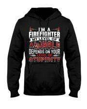 I'm A Firefighter - Level Of Stupidity Hooded Sweatshirt thumbnail
