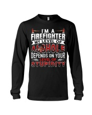 I'm A Firefighter - Level Of Stupidity Long Sleeve Tee thumbnail