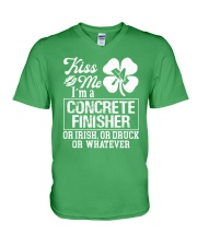 Concrete Finisher - Kiss Me  V-Neck T-Shirt thumbnail