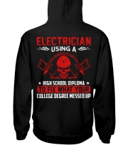 Electrician Using A High School Diplome Hooded Sweatshirt thumbnail