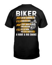Biker Rev The Engine Ride On 2 Wheels Classic T-Shirt back