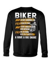 Biker Rev The Engine Ride On 2 Wheels Crewneck Sweatshirt thumbnail