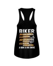 Biker Rev The Engine Ride On 2 Wheels Ladies Flowy Tank thumbnail