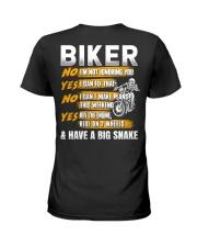 Biker Rev The Engine Ride On 2 Wheels Ladies T-Shirt thumbnail