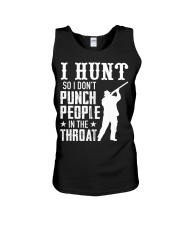 I Hunt So I Dont Punch People In The Throat Unisex Tank thumbnail
