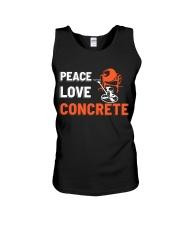 Peace Love Concrete Unisex Tank thumbnail