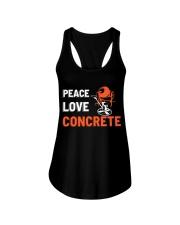 Peace Love Concrete Ladies Flowy Tank thumbnail