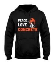 Peace Love Concrete Hooded Sweatshirt thumbnail