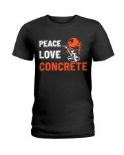 Peace Love Concrete Ladies T-Shirt thumbnail