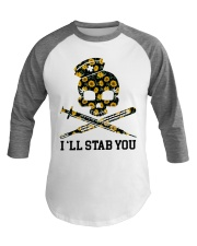 Nurse - I'll Stab You Baseball Tee thumbnail