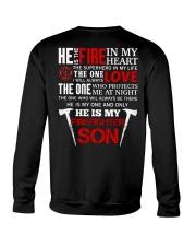 He Is My Firefighter Son Crewneck Sweatshirt thumbnail