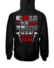 He Is My Firefighter Son Hooded Sweatshirt thumbnail
