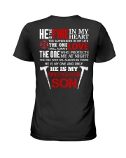 He Is My Firefighter Son Ladies T-Shirt thumbnail