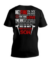 He Is My Firefighter Son V-Neck T-Shirt thumbnail